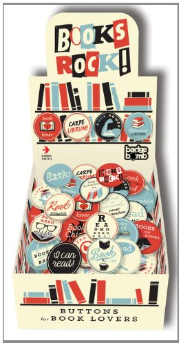 9781423637219: Books Rock! Badge Box: Buttons for Book Lovers (LoveLit)