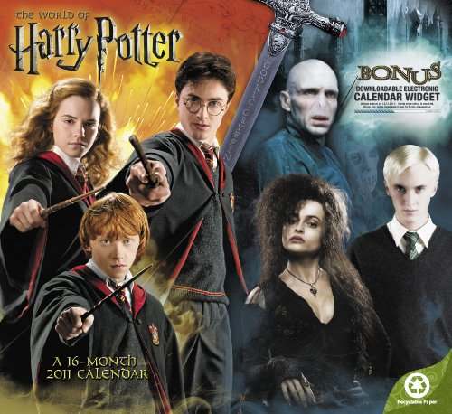 9781423805434: 2011 Harry Potter, The World of Wall Calendar