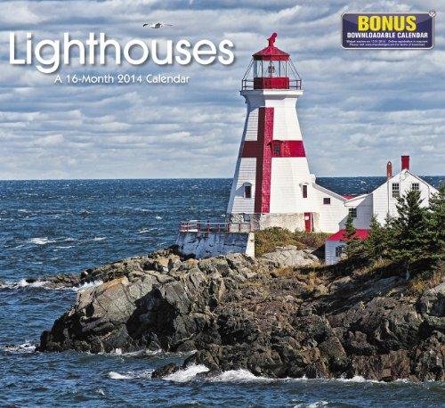 9781423821113: 2014 Lighthouses Wall Calendar