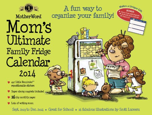 9781423821274: Mom's Ultimate Family Fridge Calendar 2014