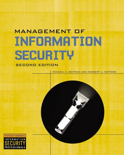 Management Of Information Security: Michael E. Whitman,