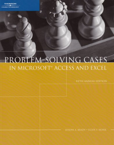 9781423901396: Problem-Solving Cases in Microsoft Access and Excel