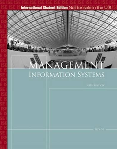 9781423901891: Management Information Systems, International Edition