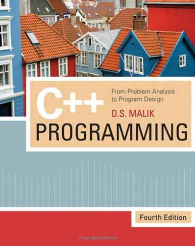 9781423902096: C++ Programming: From Problem Analysis to Program Design