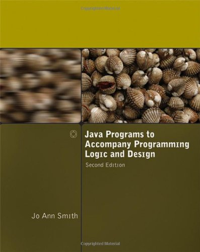 9781423902294: Java Programs to Accompany Programming Logic and Design