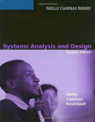 Systems Analysis and Design: Gary B. Shelly,