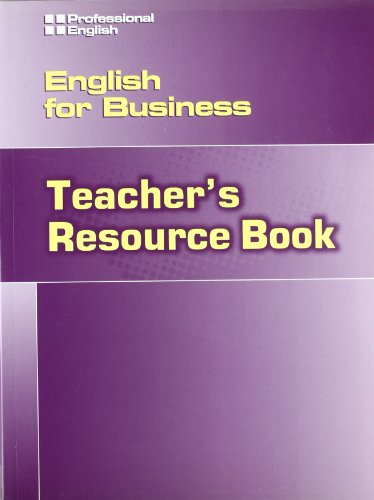 English for Business: Teacher Resource Book (Professional English) (1424000114) by Josephine O'Brien