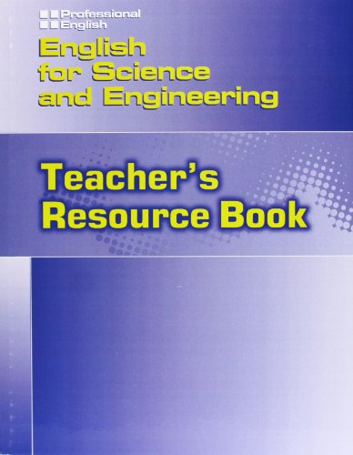 9781424000135: English for Science and Engineering: Teacher's Resource Book (Professional English)