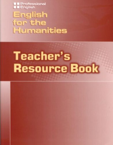 9781424000142: English for the Humanities - Teacher Resource Book (Professional English)
