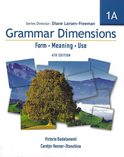 9781424003365: Grammar Dimensions 1A: Form, Meaning, Use, 4th edition