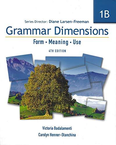 9781424003372: Grammar Dimensions 1: Split Text B