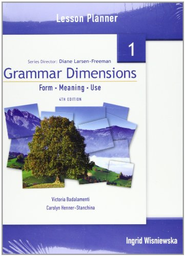 9781424003563: Grammar Dimensions 1: Lesson Planner: Teacher's Annotated Edition Bk. 1