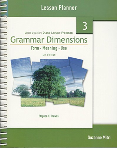 9781424003587: Grammar Dimensions 3 Lesson Planner: Form, Meaning, and Use, 4th Edition