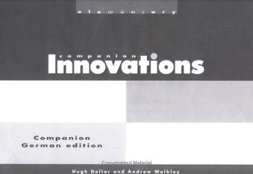 9781424003754: Innovations: German Wordlist: Elementary
