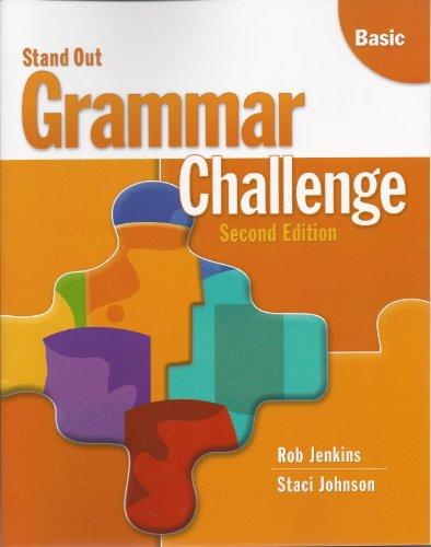 Stand Out Basic Grammar Challenge: Rob Jenkins; Staci