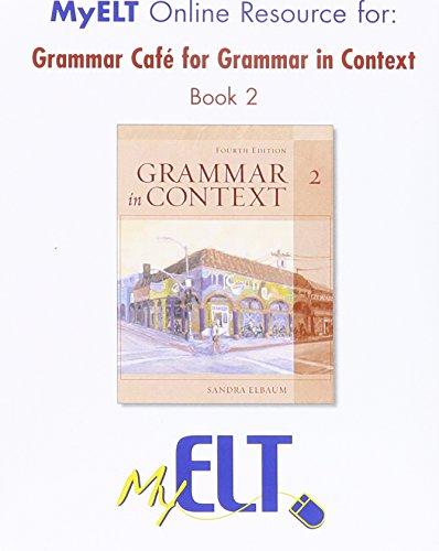 9781424017102: Grammar Cafe for Grammar in Context Book 2