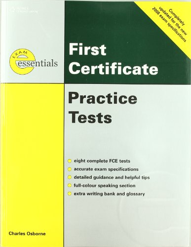 9781424028283: Thomson exam essentials. First certificate. Practice tests with answer key. Revised edition. Per le Scuole superiori