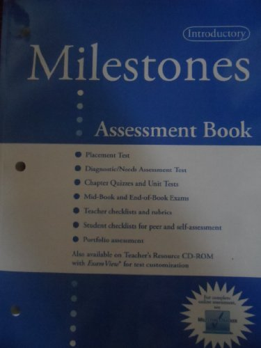 Milestones, Introductory, Assessment Book 2009 Isbn 9781424034321: Sullivan Anderson