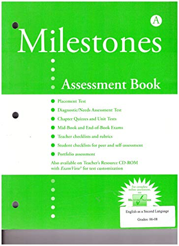 9781424034338: Milestones A: Assessment Book