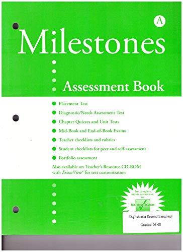 Milestones A: Assessment Book: Sullivan Anderson
