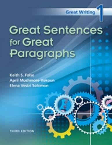 Great Writing 1: Great Sentences for Great: Keith S. Folse,