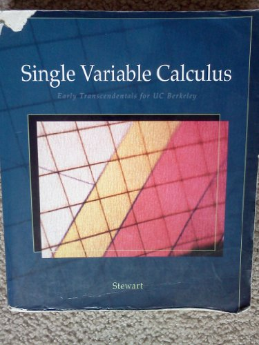 Single Variable Calculus: Early Transcendentals for UC Berkeley (9781424055005) by James Stewart