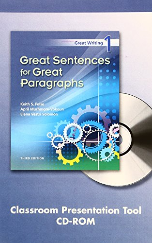 9781424065158: Great Writing 1: Great Sentences for Great Paragraphs Classroom Presentation Tool, Third Edition