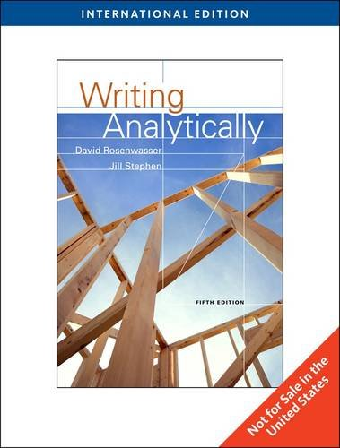 9781424069026: Writing Analytically (Fifth Edition)