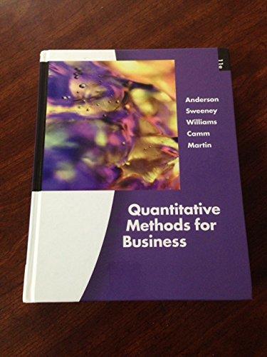 9781424071524: Quantitative Methods for Business Eleventh Edition (Quantitative Methods for Business Eleventh Edition)