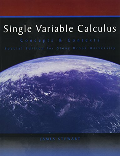 Title: SINGLE VARIABLE CALCULUS >CUST: james stewart