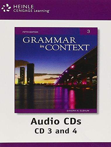 9781424079049: Grammar in Context 3 Audio CDs, 5th Edition
