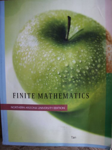 9781424079773: Finite Mathematics: Northern Arizona University Edition
