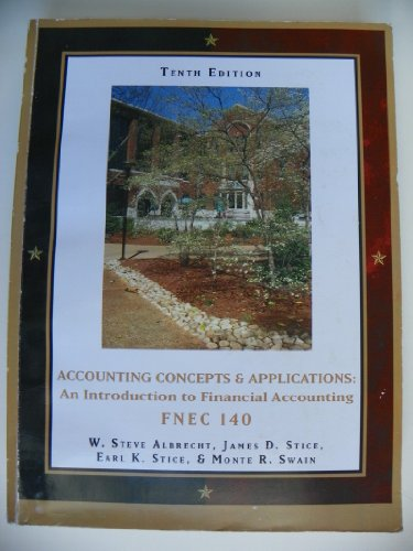 9781424080175: Accounting Concepts & Applications: An Introduction to Financial Accounting FNEC 140