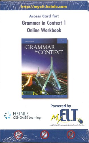 9781424082575: Grammar in Context 1 Online Workbook Access Card, Fifth Edition (MyELT Access Code)