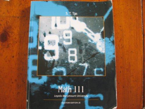 Math 111 Loyola Marymount University: S.T. Tan