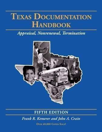 Texas Documentation Handbook: Appraisal, Non Renewal, Termination: Kemerer, Frank R.;