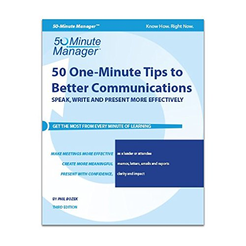 9781424623174: 50 One-Minute Tips to Better Communication | 50-Minute Manager Series