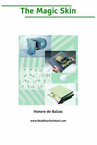 Magic Skin, The (Large Print) (1425007287) by Honore de Balzac