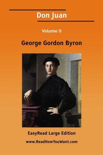 9781425056452: Don Juan Volume II [EasyRead Large Edition]: 2