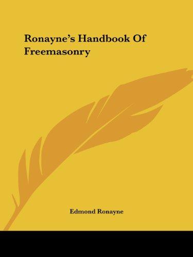 9781425320157: Ronayne's Handbook Of Freemasonry