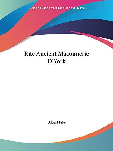 Rite Ancient Maconnerie D'York: Pike, Albert