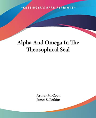 9781425355807: Alpha And Omega In The Theosophical Seal
