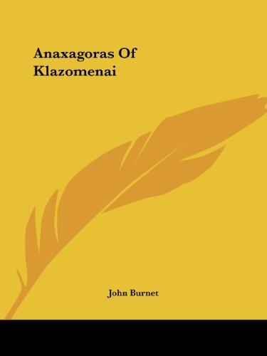 9781425356941: Anaxagoras Of Klazomenai