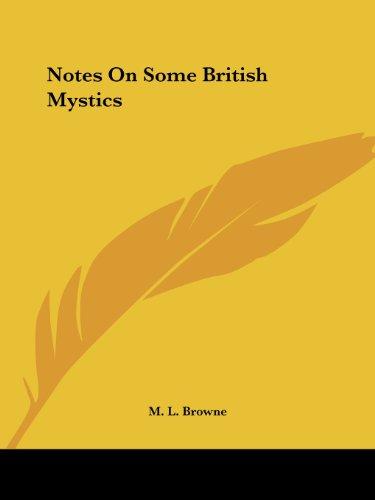 9781425372699: Notes On Some British Mystics