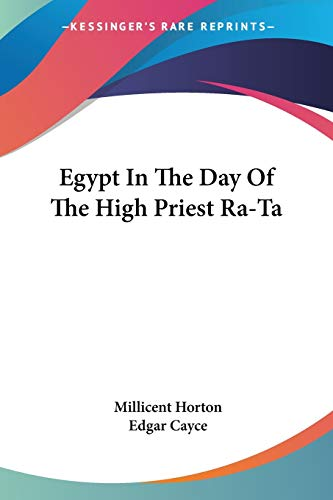 9781425426842: Egypt In The Day Of The High Priest Ra-Ta