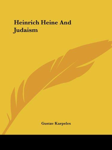 Heinrich Heine and Judaism (Paperback)