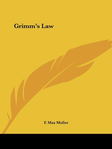 9781425463694: Grimm's Law
