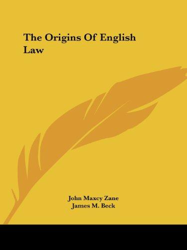 9781425473310: The Origins Of English Law