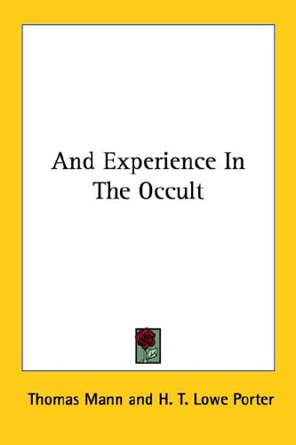 9781425476403: And Experience in the Occult