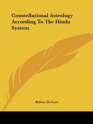 9781425482817: Constellational Astrology According to the Hindu System